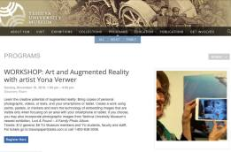 Art + AR workshop at the YU Museum
