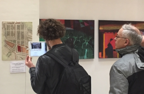 Viewing an augmented reality video (embedded in paintings) on an iPad